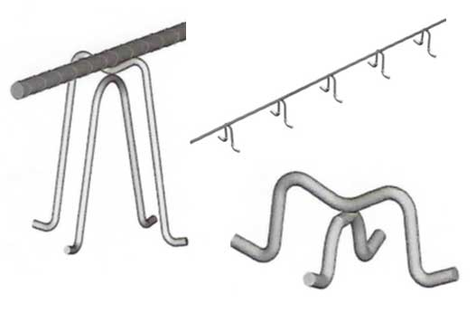 metal bar supports